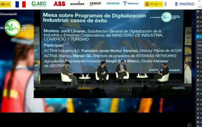 Intensas Networsk en IV Congreso Industria Conectada 4.0 -Inteligencia Artificial